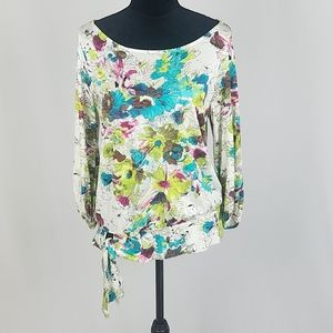 Anthropologie Weston Wear M 3/4 sleeve blouse